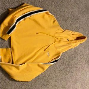 Hollister cropped hoodie.